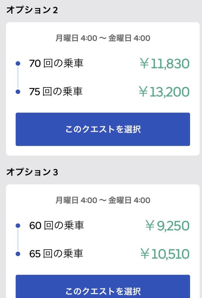 Uber Eats(ウーバーイーツ)クエスト60回