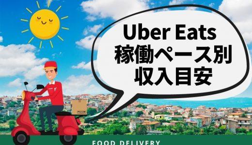 Uber Eats(ウーバーイーツ)の収入目安は?ペース別(週1・週2・週3・週4・週5)に解説
